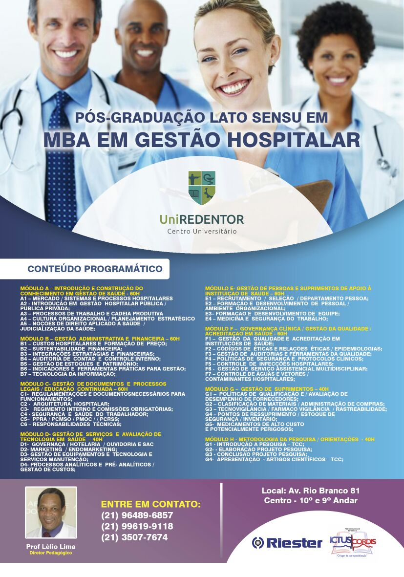 MBA Gestão Hospitalar